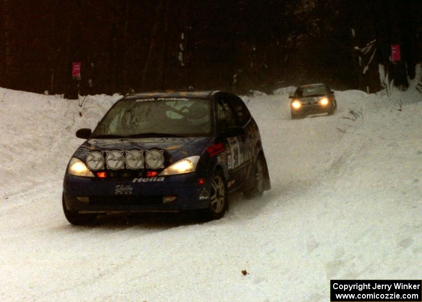 lesley suddard adrian wintle ford focus zx3 on ss1 king